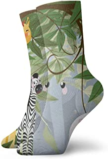 Jhonangel, Jungle Safari Animals Niños Jirafa Antideslizante Vestido antideslizante Calcetines para hombres y mujeres 30 cm / 11.8 pulgadas