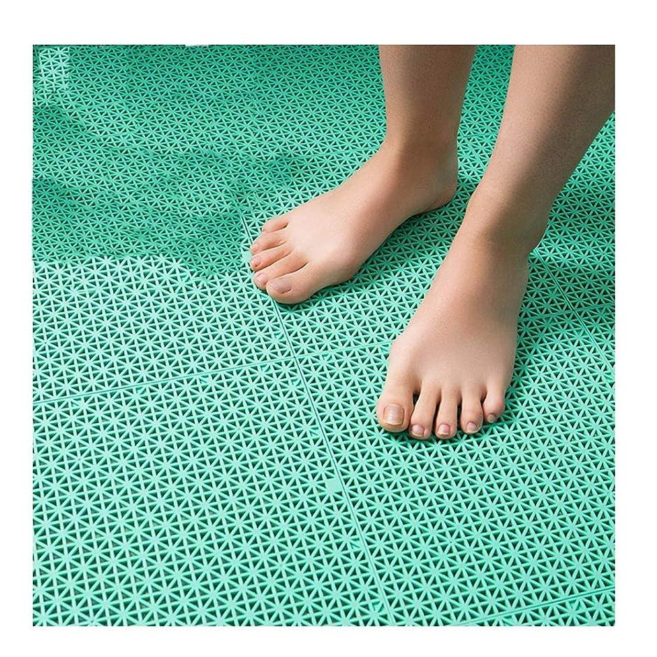 経済的移住する乳GHHQQZ バスルームのカーペット ノンスリップ マッサージ スプライス TPR フットパッド 家庭 マット 幼稚園、 7色、 厚さ1.2 cm、 26x26cm、 6個 (Color : A, Size : 12-Tiles)