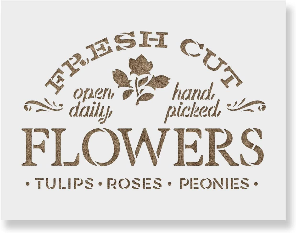 Fresh Cut Flowers Sign Stencil Max 73% OFF Stencils Reusable for store Painting -