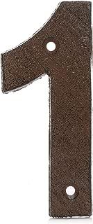 Números de puerta grandes de hierro fundido vintage de 0 a 9 – marrón óxido acabado envejecido para un aspecto rústico auténtico