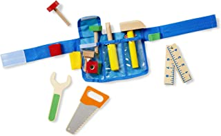 Melissa & Doug Deluxe Tool Belt Set (5 Wooden Toy Tools, 8 Building Pieces, Great Gift for Girls and Boys - Best for 3, 4, 5, 6, and 7 Year Olds)