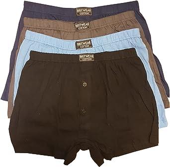 Britwear 6 x Mens Button Fly Jersey Boxer Shorts Boxers Underwear