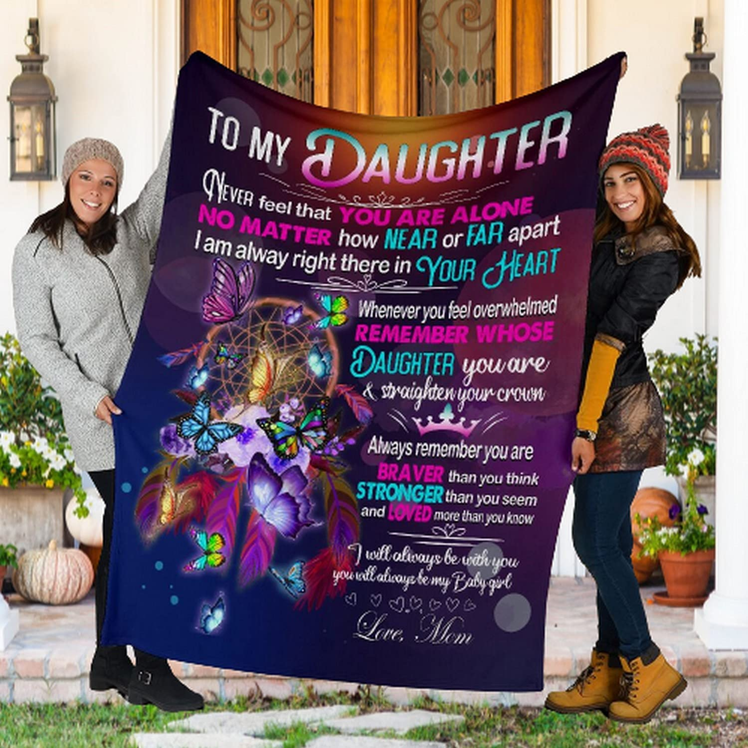 To My Daughter From Mom Throw Flannel Lightwe OFFicial shop Soft quality assurance Blanket Super