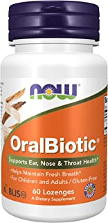 NOW Foods - OralBiotic Promotes Healthy Oral Bacteria - 60 Lozenges