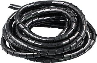 LUZAISHENG 11m PE Spiral Pipes Wire Winding Organizer Tidy Tube, Nominal Diameter: 8mm(Black) (Color : Black)