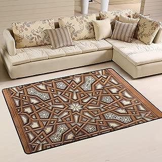 WIHVE Old Cairo Egypt Non Slip Area Rugs Living Room Carpet Bedroom Rug for Children Rug Floor Yoga Mat 24x 36 inch(2