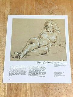 Paul Cadmus Magic Realism Egg Tempera Female Nude Signed Autograph Book Print