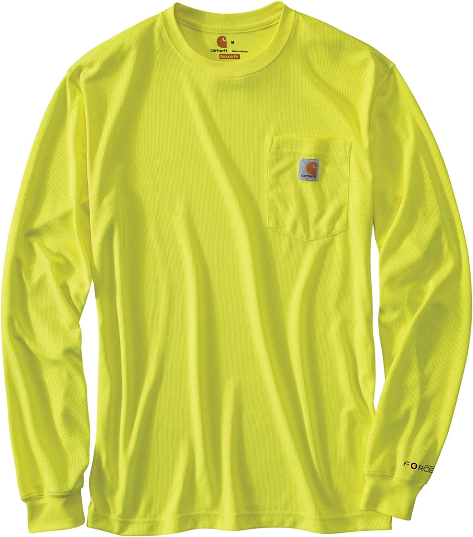 Carhartt Men's Big & Tall High Visibility Force Color Enhanced Long Sleeve T-Shirt