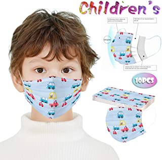 100 PCS Children's Cartoon Face Cover, Disposable Breathable 3-Ply Anti-Dust Face Cover With Elastic Earloop Non-woven Anti-Particle Anti-droplet Anti-pollen,For Kids Kiddie