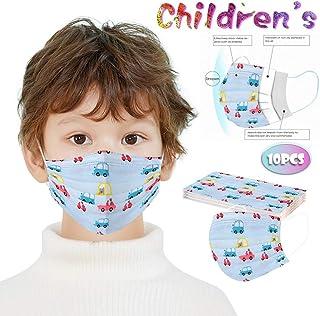 100 قطعة غطاء وجه كرتوني للأطفال، غطاء للوجه قابل للاستعمال مرة واحدة قابل للتهوية 3 طبقات مضاد للغبار مع حلقة أذن مرنة غي...