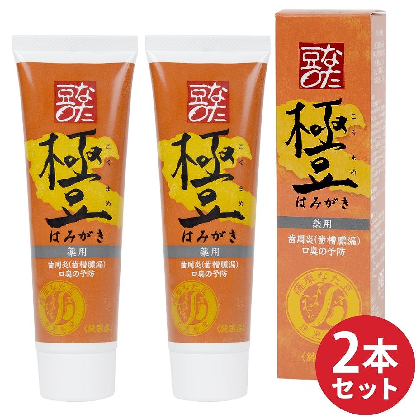 会社雇う是正する2本セット【薬用】薩摩なた豆歯磨き(内容量:110g×2)