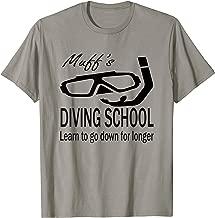 Funny Scuba Diving Muff Diver School Satire Comedy Shirt