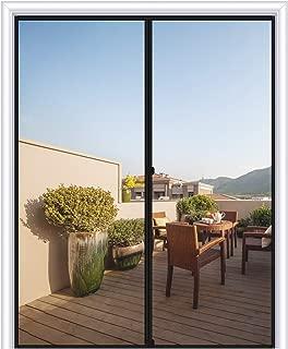 MAGZO Magnetic Screen Door 72 x 96, Fiberglass Sliding Door Mesh Curtain with Heavy Duty Fits Door Size up to 72