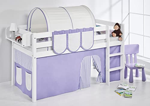 100% garantía genuina de contador Lilo Kids jelle2054kw de púrpura de Color Color Color Beige de S Parte Cama Jelle, hochbett con Cortina Cuna, Madera, púrpura Beige, 208x 98x 113cm  forma única
