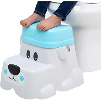 Squatty Potty Kids Step Stool with Locking Riser for Additional Height - Bear Cub Style