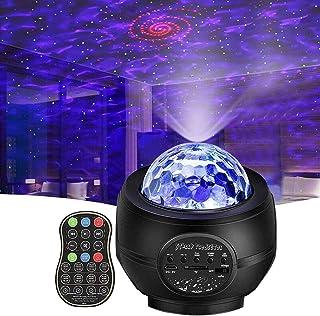 پروژکتور Star Night Light، Vinkki Nebula Galaxy Projector LED Star Star Ocean Wave Projector with Speaker Bluetooth for Baby Kids اتاق خواب مهمانی خانه تعطیلات نور شب محیط