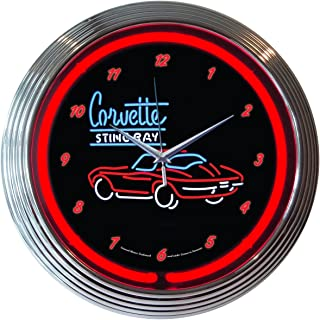 Neonetics Corvette C2 Stingray Neon Wall Clock, 15-Inch