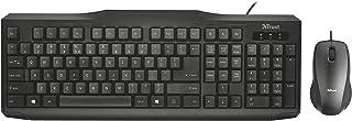 Trust Classicline - Pack de teclado y ratón USB, QWERTY español , color negro