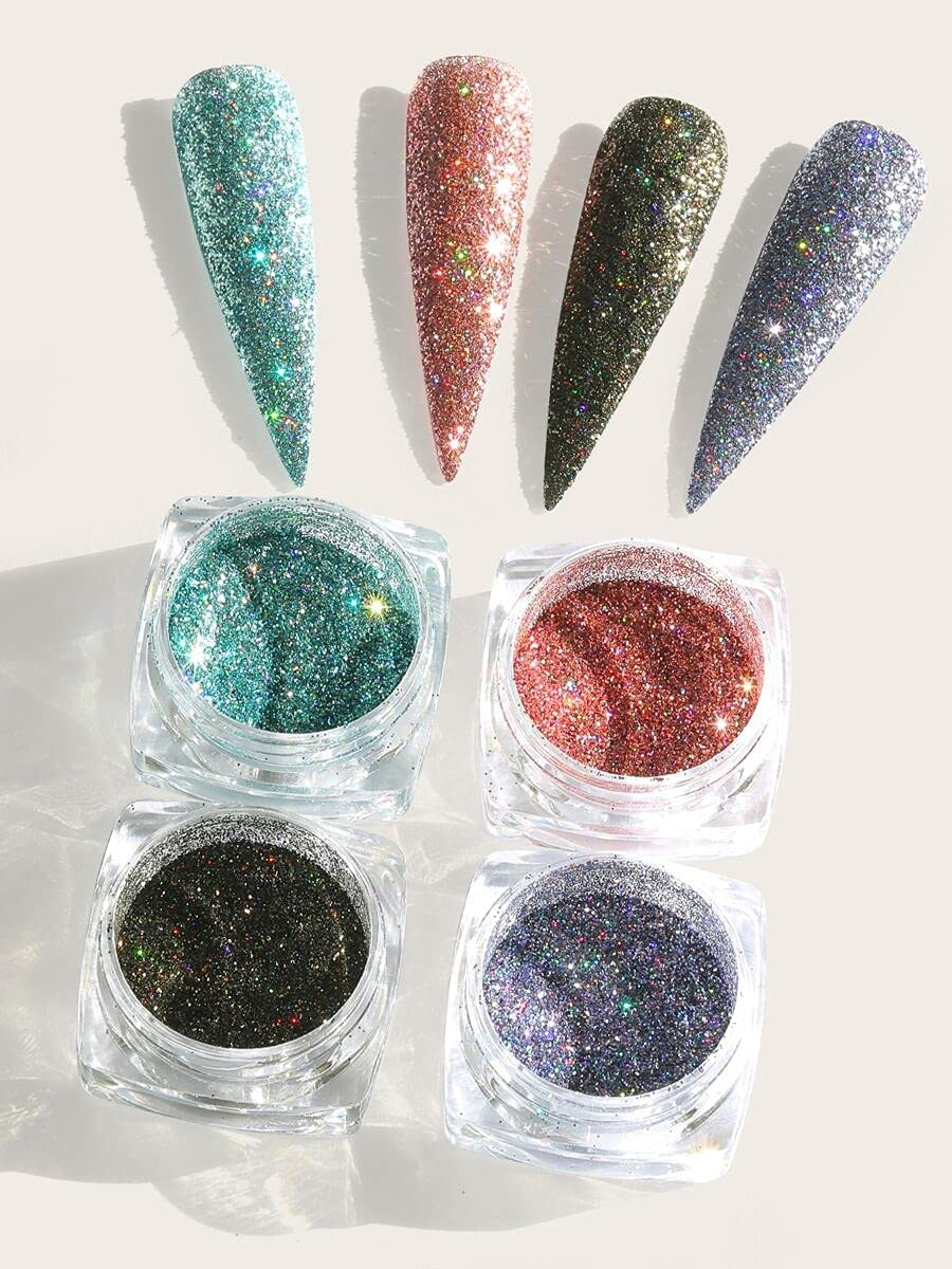 Lopus Salon Nails Selling Accessories 4boxes Nail Art Glitter Powder Many popular brands Co
