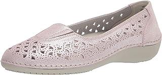 حذاء نسائي مسطح مسطح ماركة Propét من Cabarene، أحمر خدود، مقاس 10 إكس عرض US