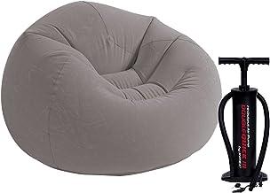 Intex 68579 Inflatable Beanless Bag Air Chair, Gray