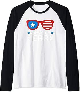 Back Up Terry American Flag USA 4th Of July Sunglasses Gifts Raglan Baseball Tee