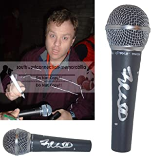 Comedian Frank Caliendo Signed Hand Autographed Microphone with Exact Proof Photo of Frank Signing the Mic, Fox NFL Sunday, Charles Barkley, Jon Gruden, John Madden, COA