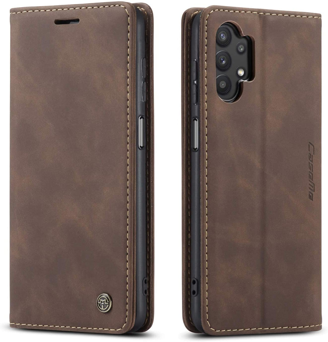 Kowauri Flip Case for Galaxy A32 4G [NOT Compatible with Galaxy A32 5G],Leather Wallet Case Classic Design with Card Slot and Magnetic Closure Flip Fold Case for Samsung Galaxy A32 4G (Coffee)