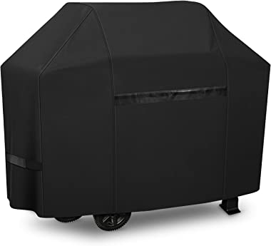iCOVER Grill Cover- 82 Inch 600D Heavy-Duty Water Proof Patio Outdoor Black Canvas Oversize BBQ Barbecue Smoker Grill Cover G