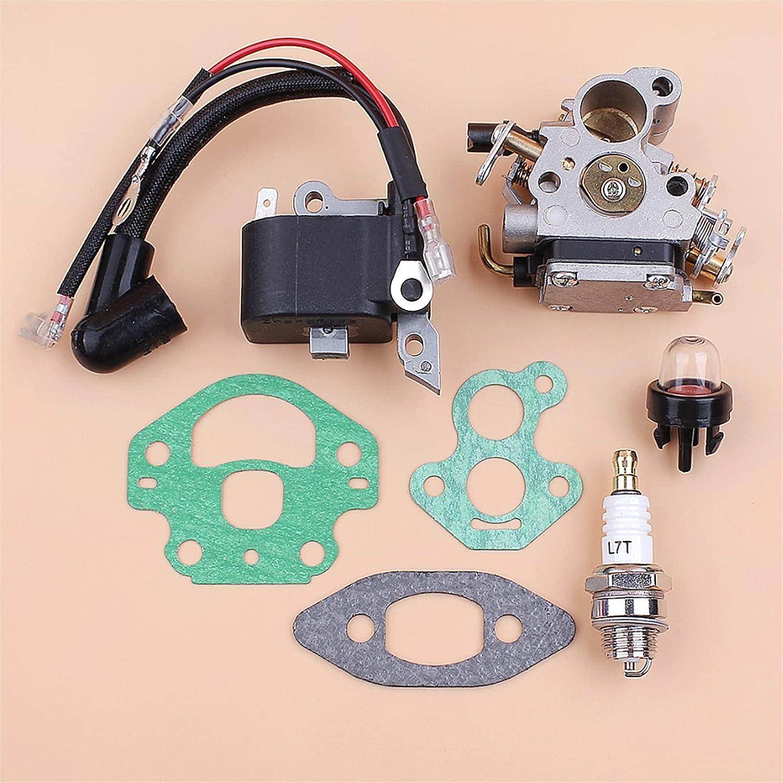 NAWQK Kit Magneto Magneto del módulo de la Bobina de Encendido del carburador Ajuste para Husqvarna 240 236 235 Piezas de Motosierra Zama C1T-W33 Carbohidrato OEM 545199901 586936202