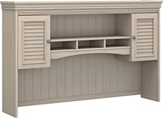 Bush Furniture Fairview Hutch for L Shaped Desk in Antique White