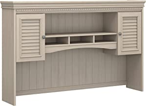 Bush Furniture Fairview Hutch for L Shaped Desk in Antique White