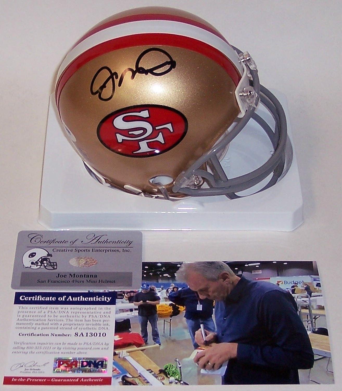 Joe Montana Autographed Hand 49ers Mini Helmet  PSA DNA