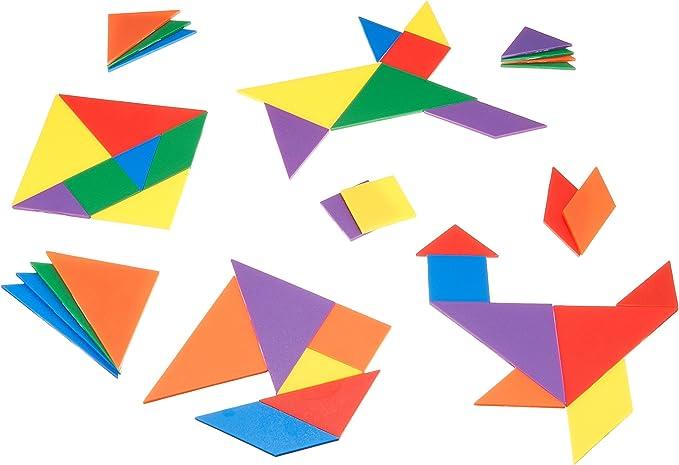 103 opinioni per Learning Resources LER 3668- Set di Tangram, 42 pz., 6 Colori Assortiti