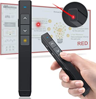 DinoFire Presentation Clicker Laser Pointer for Cats Dogs, 100FT Wireless Presenter Remote PowerPoint Clicker Presentation...