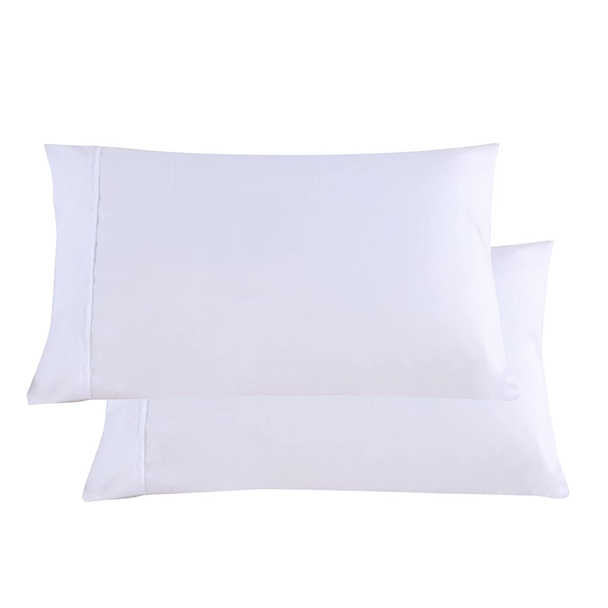 Mohap Pillowcases White Set of 2 Envelope Closure End Brushed Microfiber 1800 Super Soft and Very Durable Queen 20 by 30 inch
