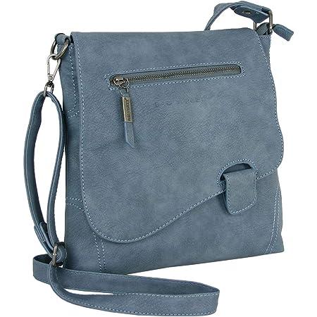 WILD THINGS ONLY !!! BAG STREET Damen Handtasche mit Riegel-Magnetverschluss und Reißverschluss | 4 Liter Volumen | Farbe Alba-Blau