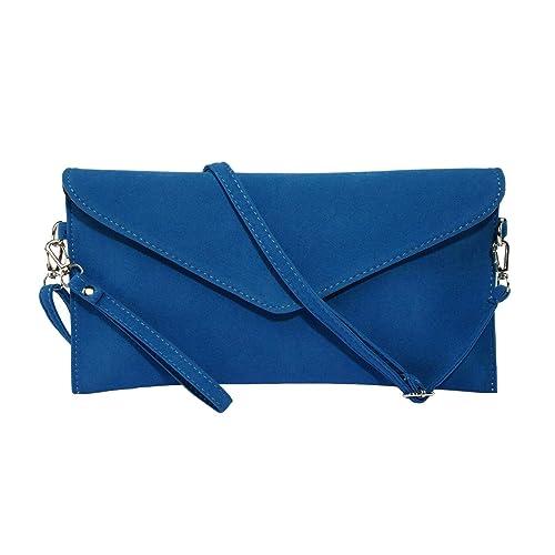 ca2831db35d Jieway Women's Faux Suede Evening Clutch Bag Crossbody Bag Shoulder Handbag