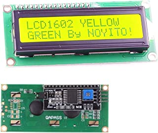 NOYITO 1602 16x2 LCD Module Shield Blue Backlight with IIC I2C Driver Serial Interface for Arduino UNO R3 MEGA2560 (Pack o...