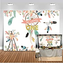 Mocsicka Wild One Dreamcatcher Backdrop 7x5ft Tribal Party 1st Birthday Photo Backdrops Happy First Birthday Floral Photography Background