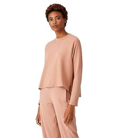 Eileen Fisher Tencel Organic Cotton Fleece Crew Neck Top