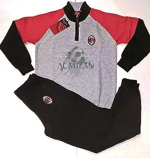 Pigiama Milan in Pile Homewear Tuta Bambino Ragazzo Prodotto Ufficiale