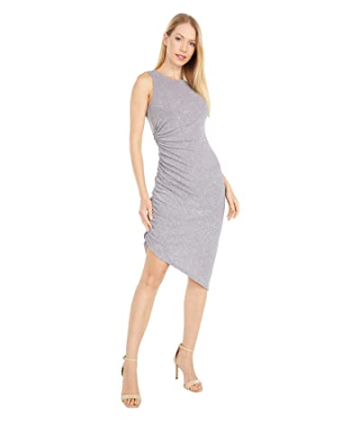 Vince Camuto Sleeveless Cocktail Dress with Side Ruching (Steel) Women
