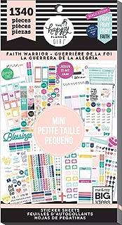 Happy Planner Sticker Value Pack-mini Faith Warrior, 1340/pkg