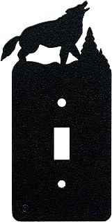 Printed Decora Rocker Style Switch with matching Wall Plate Wolf Art Plates 69-Printed-Single-DecoraSwitch