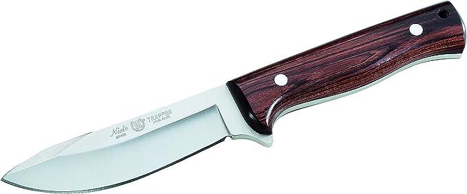 Nieto Gürtelmesser 12 cm mit persönlicher Gravur Olivenholz Lederscheide