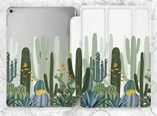 Green Floral Summer Cactus Leaves Art Case For Apple iPad Mini 1 2 3 4 5 iPad Air 2 3 iPad Pro 9.7 10.5 11 12.9 inch iPad 9.7 inch 2017 2018 2019