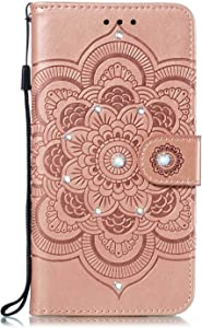 Bear Village  Case Compatible with Galaxy S10  Cover with Credit Card Slot  Magnetic Closure and Kickstand Function  Case for Samsung Galaxy S10  Rose Gold