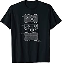 Vintage Argus Camera Diagram T-Shirt Mechanical Graphic