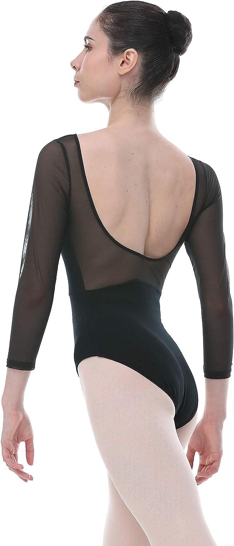 Dance Favourite Long Sleeves V-Neck Black Deep Ballet Scoop Leot Detroit Dedication Mall